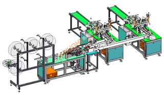SLT-KZ01 Automatic Two Line Flat Mask Making Machine