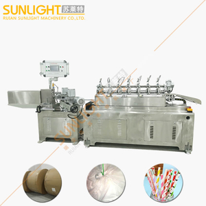 SULAITE-200S 75m per Minute Stainless Steel High Speed Online Cutting Paper Straw Machine